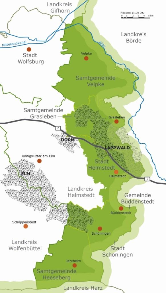 Karte Leaderregion Grünes Band klein